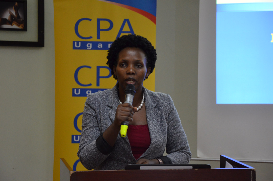 CPA Kelemensio Busingye made a presentation on the Role of Accountants in Tax Compliance