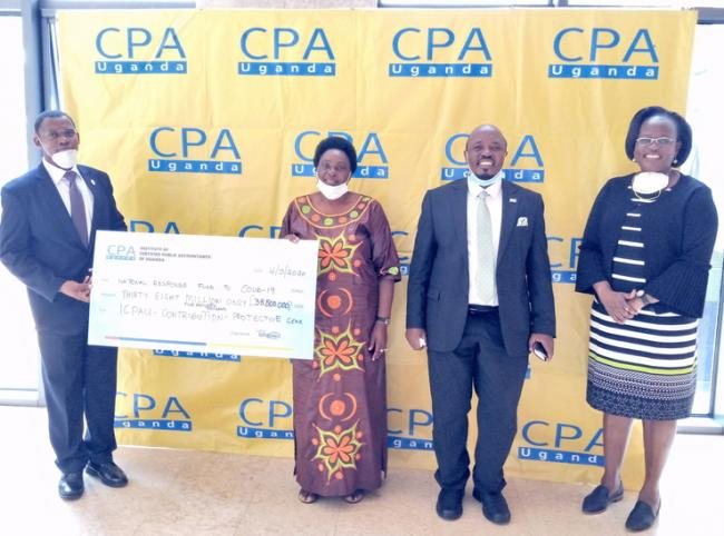 ICPAU Donates 38,500,000 shillings to National COVID Response Fund